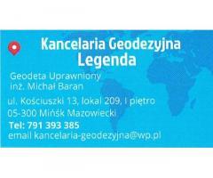Kancelaria Geodezyjna Legenda Geodeta Uprawniony inż. Michał Baran